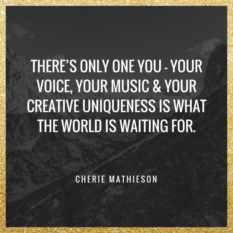 Theres Only One You Quote Big Notes Get Votes Cherie Mathieson