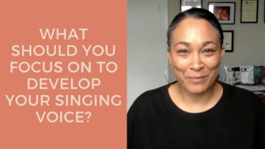 What Should You Be Focusing On To Develop Your Voice