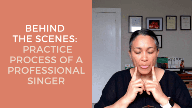 Behind The Scenes Practice Process Of A Professional Singer