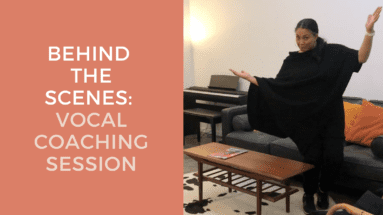 Behind The Scenes: Vocal Coaching Session